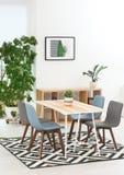 Stylish dining room interior. Home design. Idea stock photography
