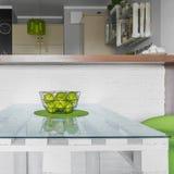 Stylish dining table Stock Photo