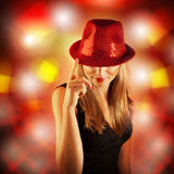 Stylish disco girl Stock Photo