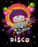 Stylish disco party banner Stock Photo