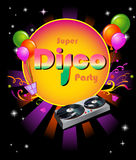 Stylish disco party banner Royalty Free Stock Image