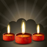 Stylish diwali diya background Royalty Free Stock Image