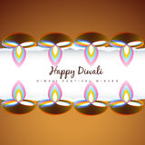 Stylish diwali festival design Royalty Free Stock Photos