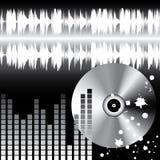 Stylish DJ's background. Stock Image
