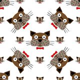 Stylish dogs pattern. Vector illustration Stock Image