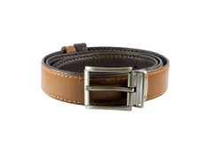 Stylish double sided leather belt Royalty Free Stock Photo