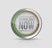 Stylish Download now button. illustration design Royalty Free Stock Photography