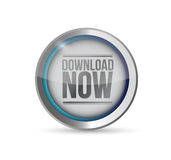 Stylish Download now button. illustration design Royalty Free Stock Photos