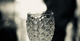 Stylish drinking water glass unique photo. Stylish drinking water glass isolated object unique photo royalty free stock photo