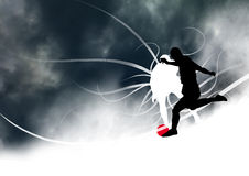 Stylish dynamic soccer background Royalty Free Stock Image