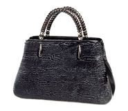 Stylish elegant black ladies handbag Stock Image