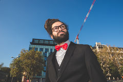Stylish elegant dreadlocks businessman Royalty Free Stock Image