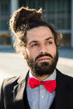 Stylish elegant dreadlocks businessman Royalty Free Stock Images