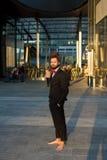 Stylish elegant dreadlocks businessman Royalty Free Stock Images