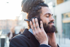 Stylish elegant dreadlocks businessman Royalty Free Stock Photo