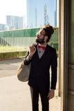 Stylish elegant dreadlocks businessman Royalty Free Stock Photos