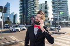 Stylish elegant dreadlocks businessman Stock Image