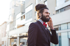 Stylish elegant dreadlocks businessman Stock Photography