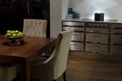 Stylish Elegant Kitchen Diner Royalty Free Stock Photography