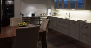 Stylish Elegant Kitchen Diner Stock Photos