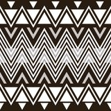 Stylish elegant modern black and white seamless pattern Stock Images