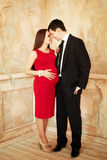 Stylish elegant young couple waiting a baby Stock Photo