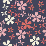 Stylish endless pattern with decorative flowers stock illustration