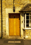 Stylish entrance to a residential building, an interesting facad Royalty Free Stock Photography