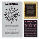 Stylish esoteric cards collection with mystery elements royalty free illustration