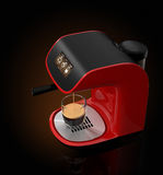 Stylish espresso coffee machine with touch screen. 3DCG Rendering with clipping path. Stock Image