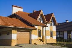 Stylish european house Royalty Free Stock Image