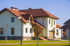 Stylish european house Stock Photos