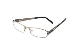 Stylish Eye Glasses Isolated on White. Stylish metal Eye Glasses Isolated on white royalty free stock photo