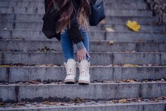 Stylish fall outfit Royalty Free Stock Photo