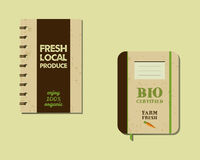 Stylish Farm Fresh brand book, notebook templates Royalty Free Stock Image