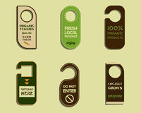 Stylish Farm Fresh brand door badge, sticker Stock Images