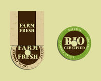 Stylish Farm Fresh cd or dvd templates. Organic Stock Photo