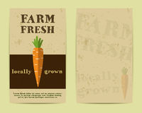 Stylish Farm Fresh flyer, template or brochure Stock Photo