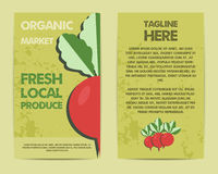 Stylish Farm Fresh flyer, template or brochure Stock Images