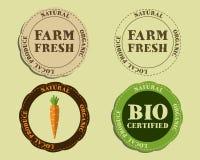 Stylish Farm Fresh logo and badge templates with Stock Image