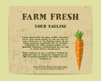 Stylish Farm Fresh poster, template or brochure Royalty Free Stock Photo