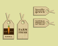 Stylish Farm Fresh sticker and label, template or Royalty Free Stock Photo