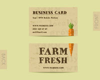Stylish Farm Fresh visiting card, template with Royalty Free Stock Photography