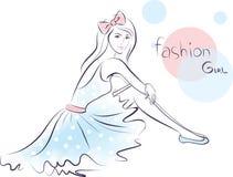 Stylish fashion beauty girl. Royalty Free Stock Photo