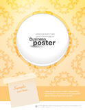 Stylish fashion leaflet poster Stock Photography