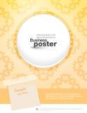 Stylish fashion leaflet poster Stock Photography