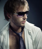 Stylish fashion Man portrait Royalty Free Stock Photography