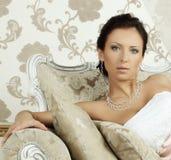 Stylish fashion model, glamour beauty royalty free stock photography