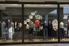 Stylish fashion store window royalty free stock photos