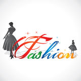 Stylish Fashion Text Stock Image